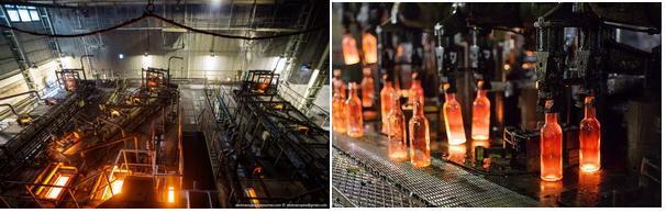 Производство стеклотары.