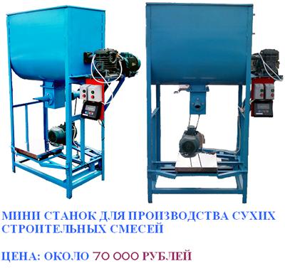 Оборудование для производства сухих строительных смесей.