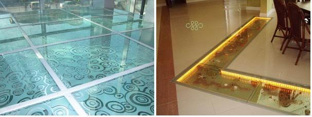 Производство плитки из стекла.