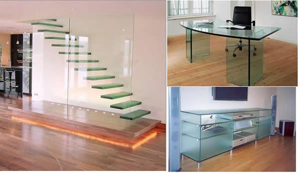 Производство мебели из стекла.