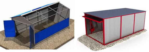 Бизнес: производство гаражей пеналов из профлиста