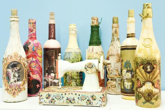 Создание красивых бутылок своими руками