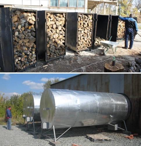 Производство углевыжигательных