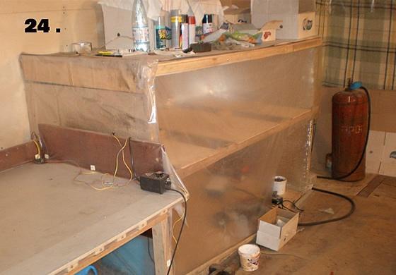 Флокирование - сушка детали в мастерской