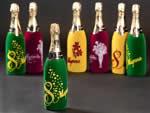 Флокирование - бутылок шампанскаого