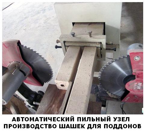 пилочный станок производство поддонов