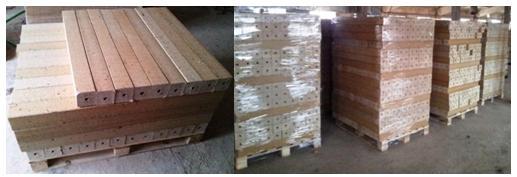нарезанные шашки упакованные в поддоны их цена около 6000 руб. м3