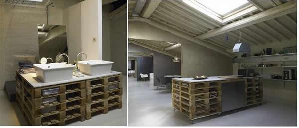 Кухонные и ванные столы из поддонов: