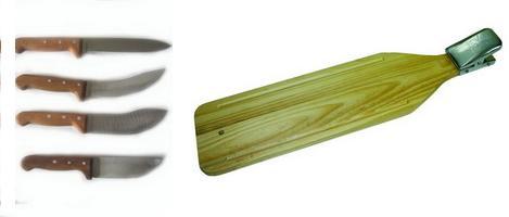 Ножи и разделочные доски.