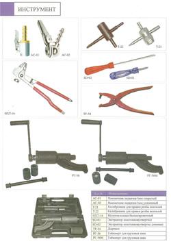 Ручной инструмент для шиномонтажа.